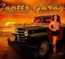 Jeeping Bettie at Gantt's Garage by ChasSinklier