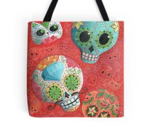 Colourful Sugar Skulls Tote Bag