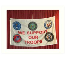 MERRY CHRISTMAS TO ALL OF OUR TROOPS.... Art Print
