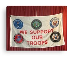 MERRY CHRISTMAS TO ALL OF OUR TROOPS.... Canvas Print