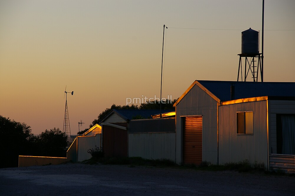 Shed in Sunset by pmitchell