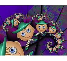 Inner Child - Leprechauns in a Psychedelic World Photographic Print