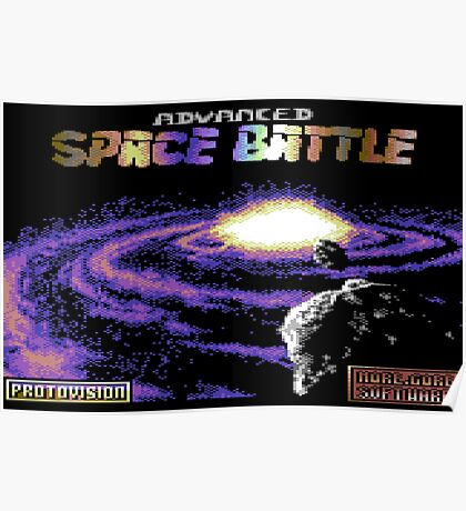 Gaming [C64] - Advacned Space Battle Poster