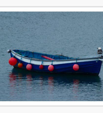 Little Blue Boat Sticker