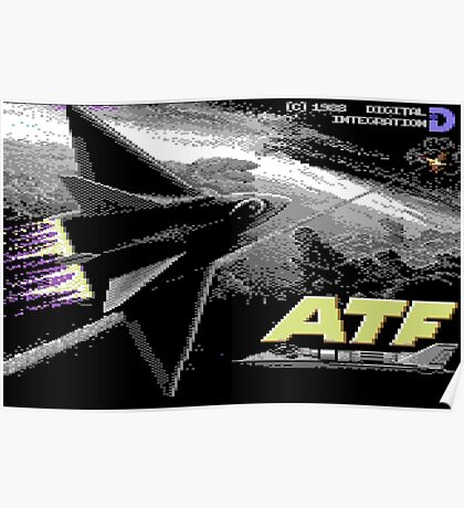 Gaming [C64] - Advanced Tactical Fighter (ATF) Poster