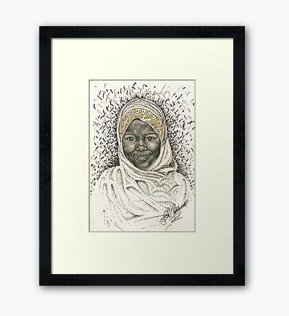 LittleTanzanian Girl Framed Print