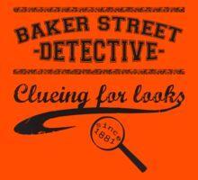 Baker Street Detective (Black) Kids Tee
