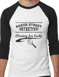 Baker Street Detective (Black) Men's Baseball ¾ T-Shirt