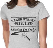 Baker Street Detective (Black) Womens Fitted T-Shirt