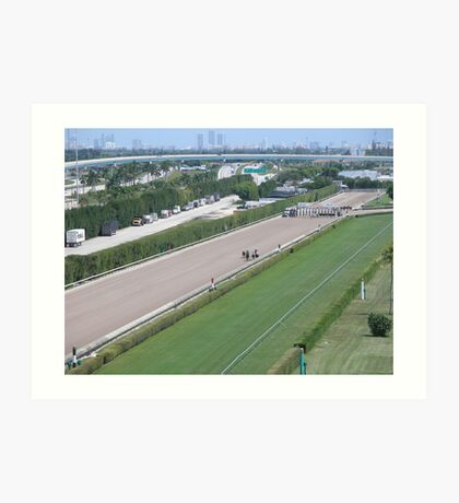 at the horse races 2 Art Print