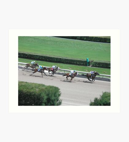 at the horse races 4 Art Print