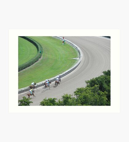 at the horse races 5 Art Print