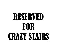 Reserved for 'Crazy Stairs' Photographic Print