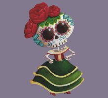 Mexican Skeleton Girl Kids Clothes