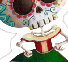 Mexican Skeleton Girl Sticker