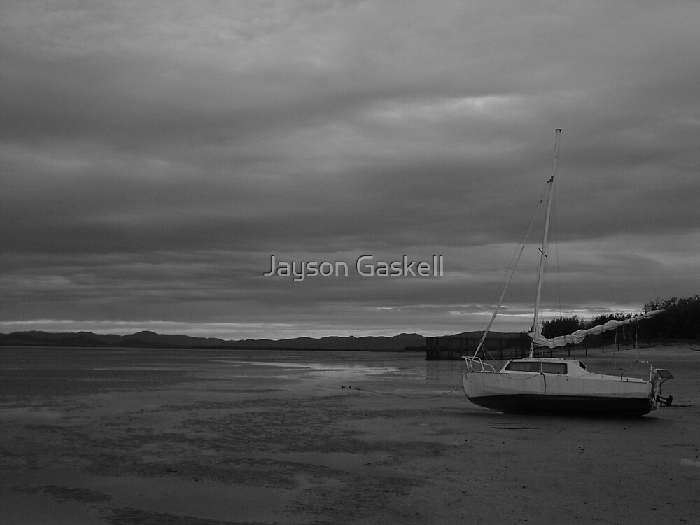 Boat on dry by Jayson Gaskell