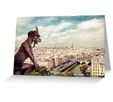 Paris - Gargoyle's Eye View Greeting Card