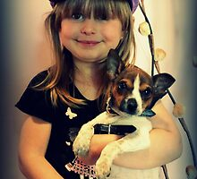 Portrait ~ Girl And Dog ~ by Evita