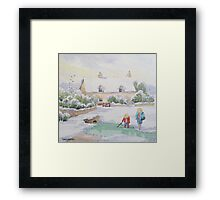 TOO COLD FOR FISH Framed Print