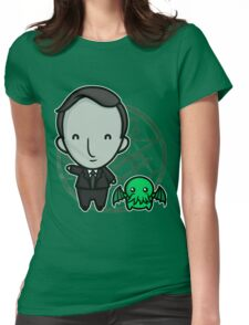HP Lovecraft and Friend Womens Fitted T-Shirt