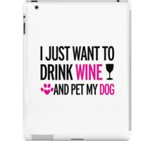 drink, wine, pet, dog iPad Case/Skin