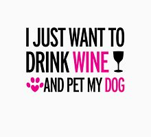 drink, wine, pet, dog Womens Fitted T-Shirt