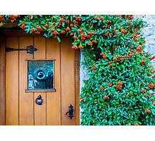 Traditional English front door Photographic Print