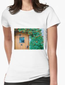 Traditional English front door Womens Fitted T-Shirt
