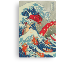 The Great Wave off Kanto - Shiny Version Canvas Print