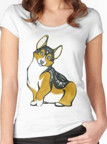 Tribal Corgi Women's Fitted Scoop T-Shirt