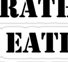Right Now, I'd Rather Be Eating Ice Cream - Black Text Sticker