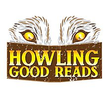 Howling good reads distressed version  The Others Written in red or Murder of Crows series fan art Photographic Print