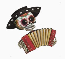 Mexican Skeleton Musician Kids Clothes