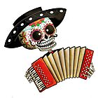 Mexican Skeleton Musician by colonelle