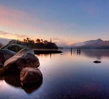 Winter Light on Derwent Water by Rich Gale