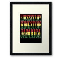 Rocksteady Kingston Jamaica Framed Print