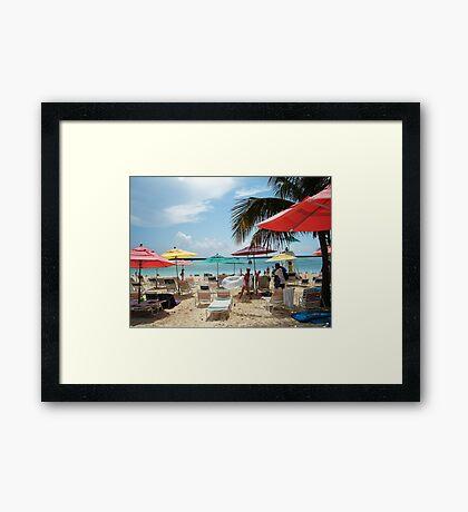 DISNEY BEACH Framed Print