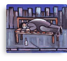 Down and out (from my original acrylic painting) Canvas Print