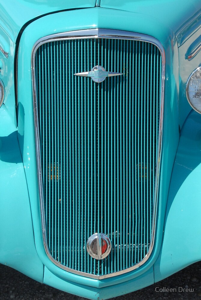 Blue Chevy Grill by Colleen Drew