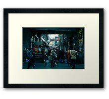 8-bit Lane Framed Print