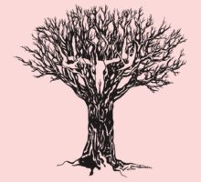 Tree with Skull One Piece - Long Sleeve