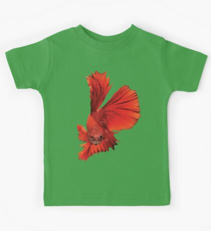 Siamese Figthing Fish Red Kids Tee