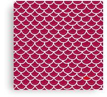 Fish scales burgundy Canvas Print