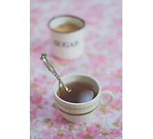 Tea Time in Pink Photographic Print