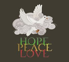 Christmas Dove of Hope, Peace and Love Womens Fitted T-Shirt