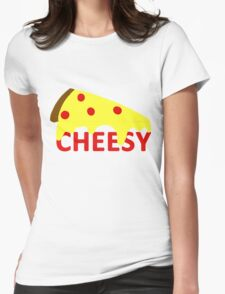 cheesy Womens Fitted T-Shirt