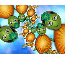 Inner Child - Lady Turtles Going For a Swim Photographic Print