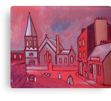 Saint Pauls Church Whitley Bay England in circa 1900 (from my original acrylic) Canvas Print