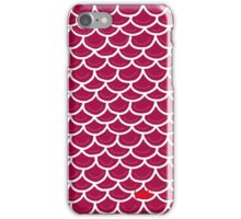 Fish scales burgundy iPhone Case/Skin