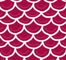 Fish scales burgundy Sticker